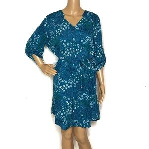 41 Hawthorn Teal Floral Shirt Dress